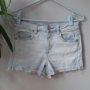 AEO high rise cutoff jean shorts